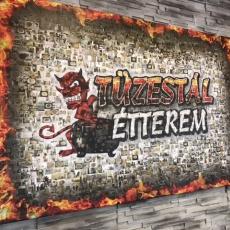 Tüzestál Étterem: falikép