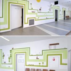 Nagy Diána falai a Révész utcai gyermekrendelőben (Forrás: hg.hu)
