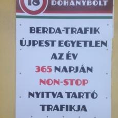 Nemzeti Dohánybolt - Berda József utca