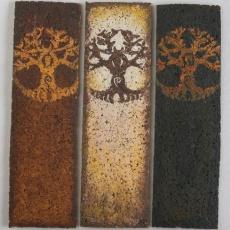 Könyvjelzők Kelta-Életfa motívummal: parafa-papír, kézzel festve