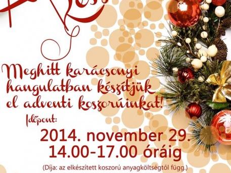 Adventi készülődés plakát