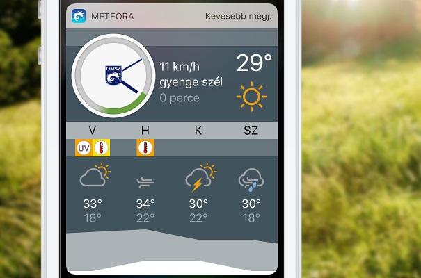 A Meteora-alkalmazás mobilon